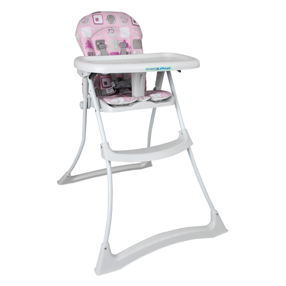 Cadeira Refeição Bon Appetit XL Burigotto Patchwork Rosa