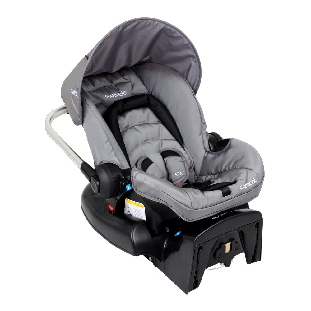 Bebê Conforto Caracol + Base Lenox Cinza 0 à 13kg