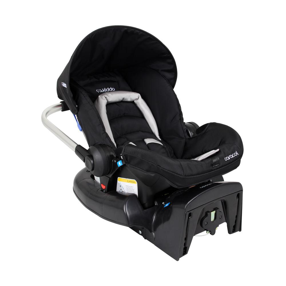 Bebê Conforto Caracol + Base Lenox Preto 0 à 13kg