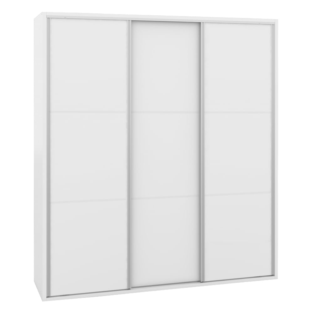 Armário Milano 3 Portas Deslizantes Branco Fosco