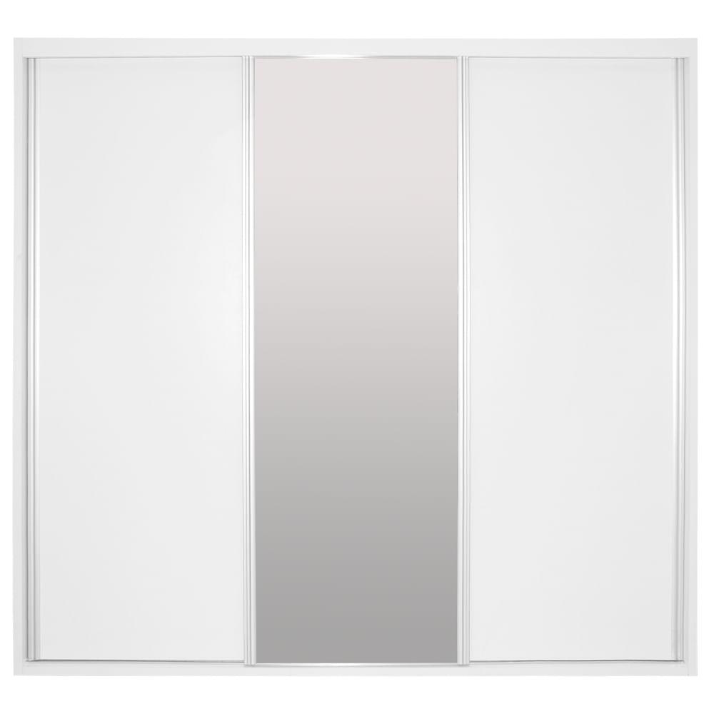 Armário Rio 2 Portas Deslizantes e 1 Porta Desl. com Espelho 2,22m Nova Versão