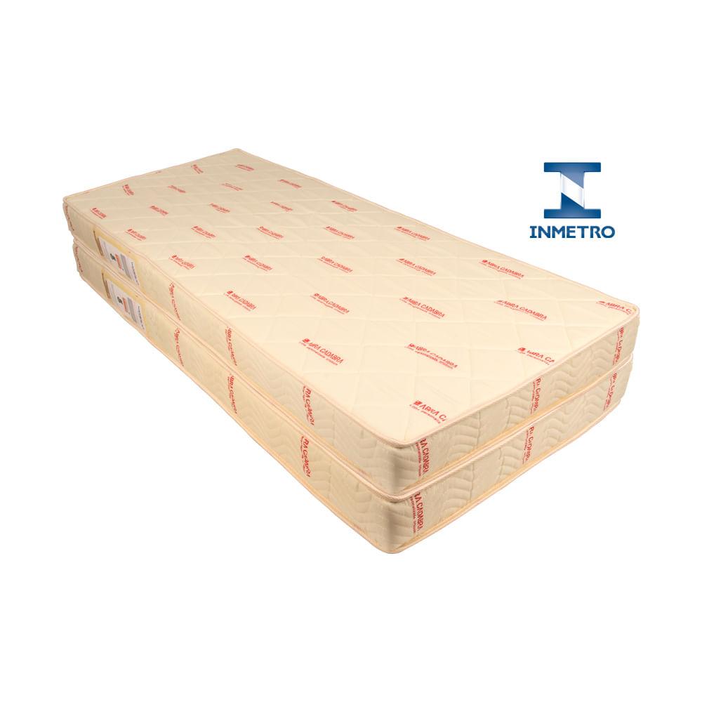 Kit 2 Colchões de Solteiro Super Luxo/Premium para Bicama
