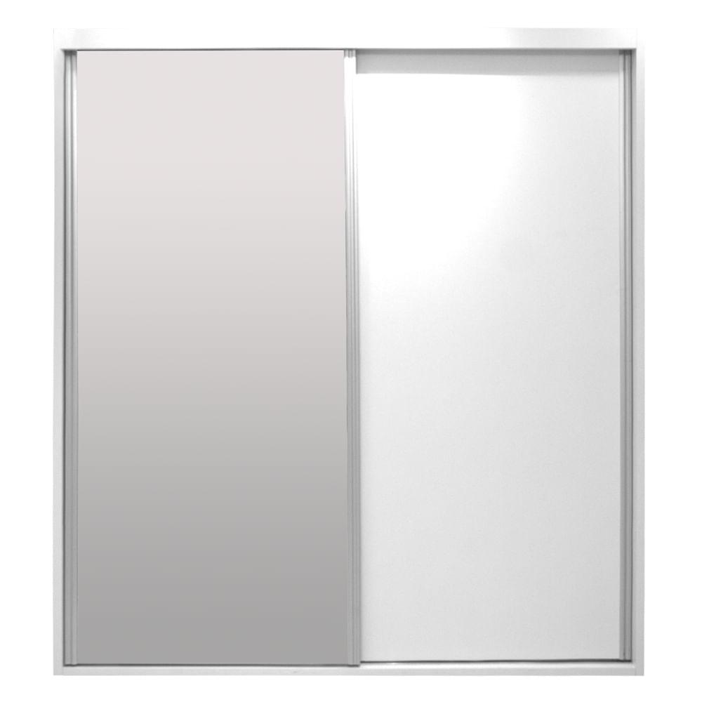 Armário Rio 1 Porta Deslizante e 1 Porta Deslizante com Espelho Nova Versão