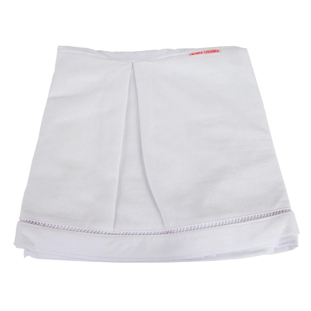 Veste para Berço 4 Lados Piquet Branco