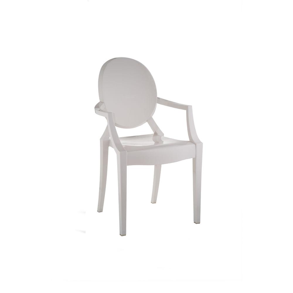 Cadeira Invisible com Braço Branco