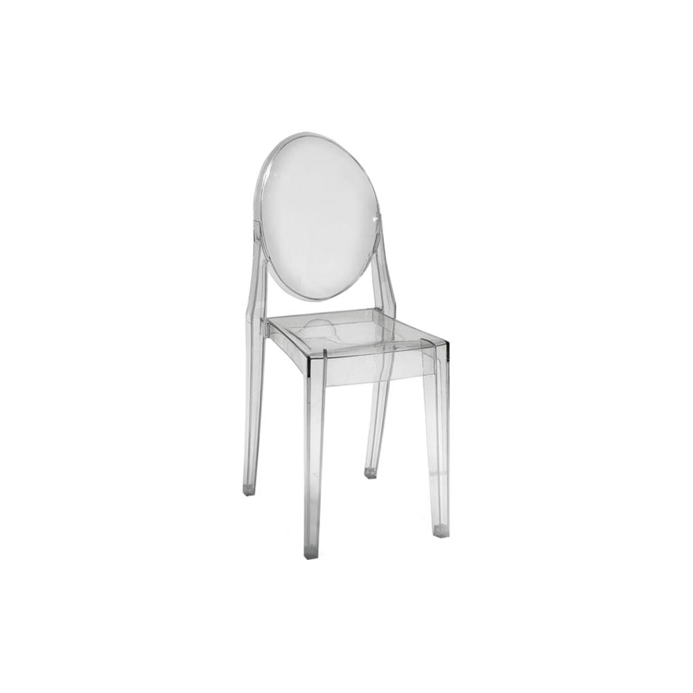 Cadeira Invisible sem Braço Transparente
