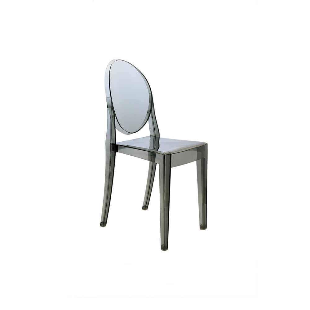Cadeira Invisible sem Braço Fumê