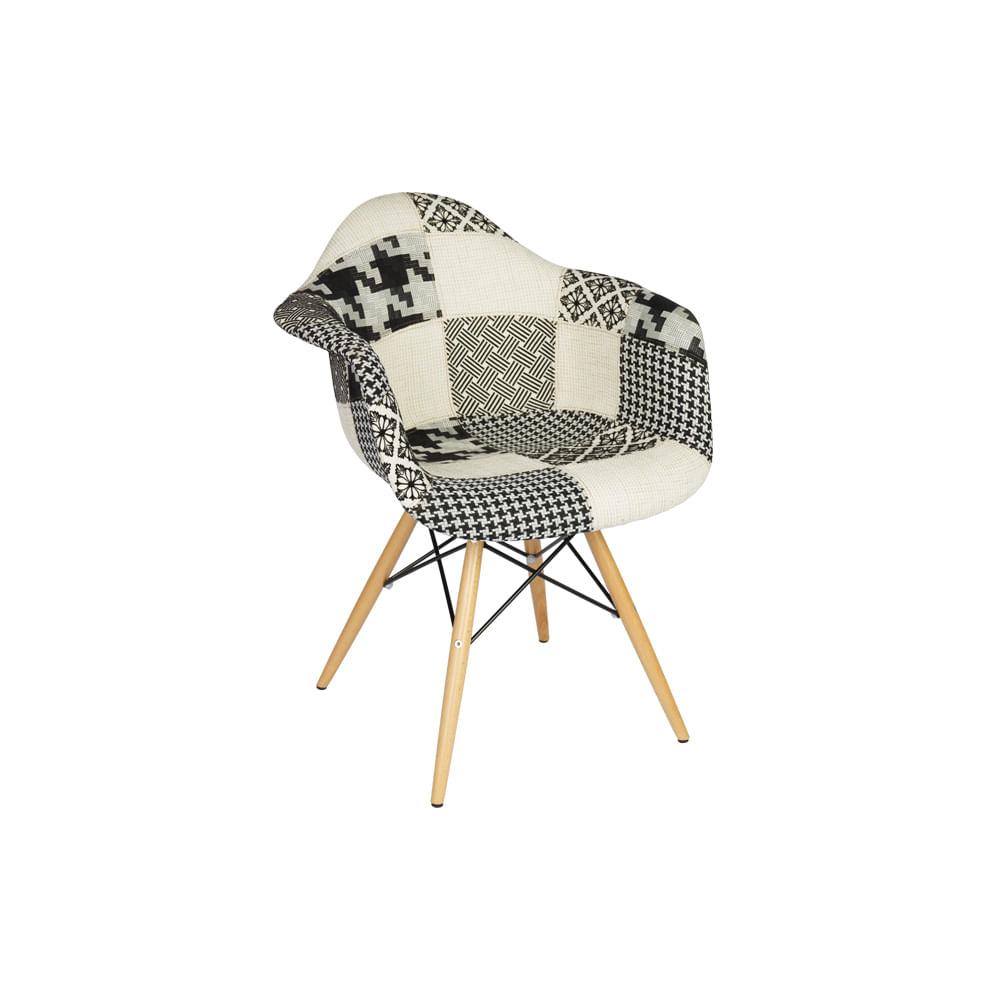 Cadeira Eiffel Patchwork Black