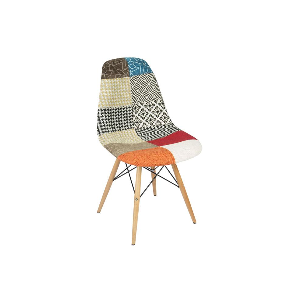 Cadeira Eiffel Patchwork Sem Braço