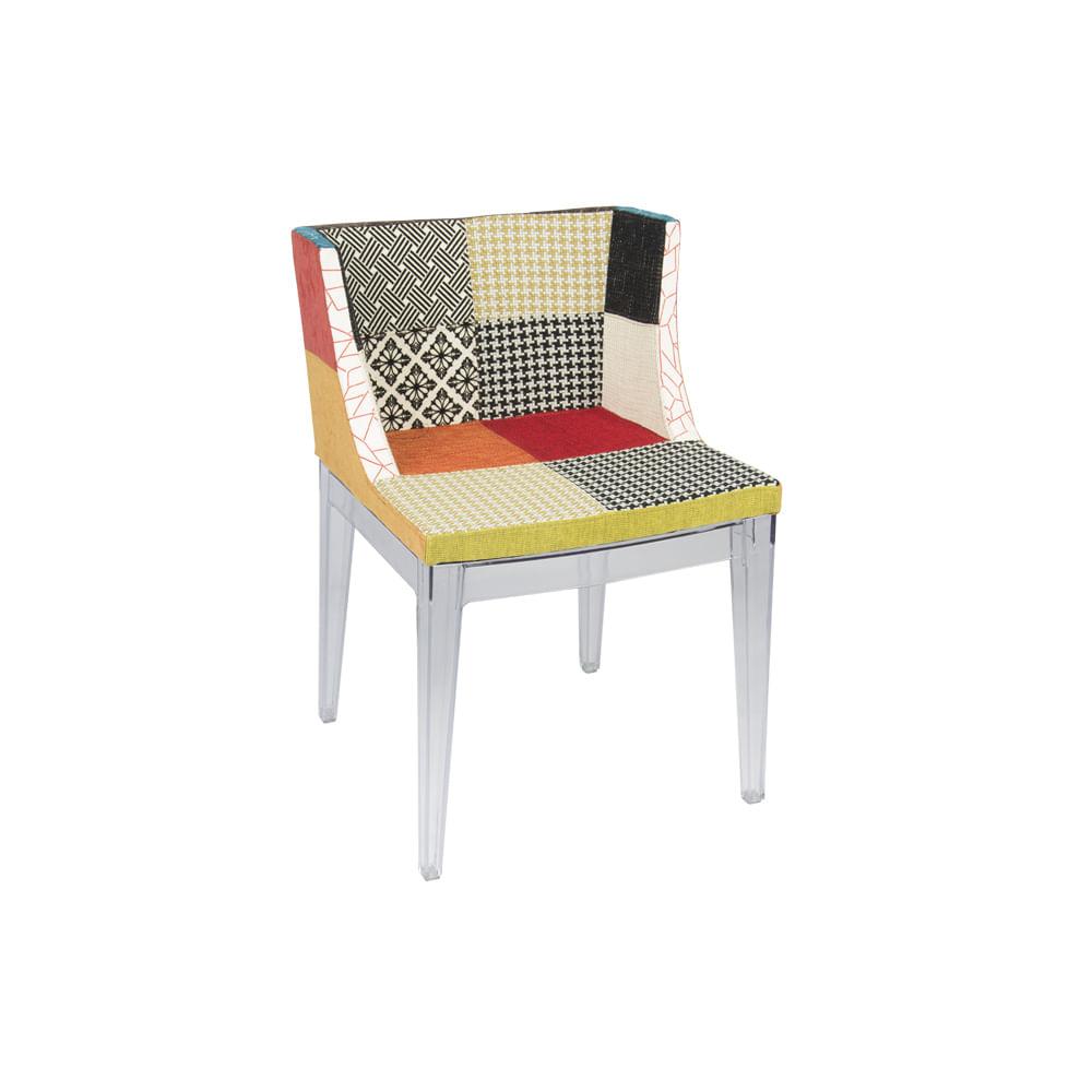 Cadeira Maya Patchwork Pés Em Policarbonato - Or 1135 Mix
