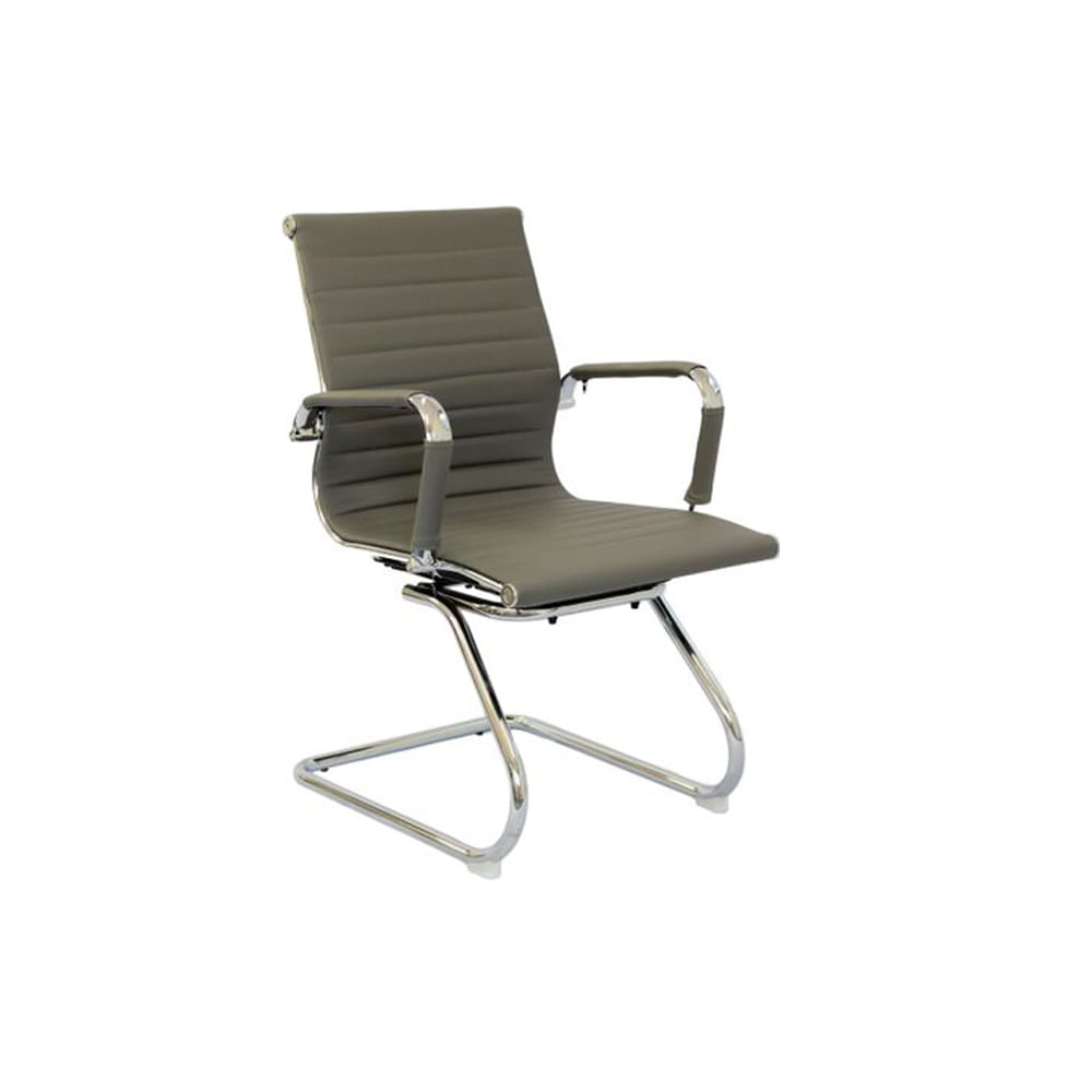 Cadeira Madrid Fixa Cromada Cinza - Or 3301