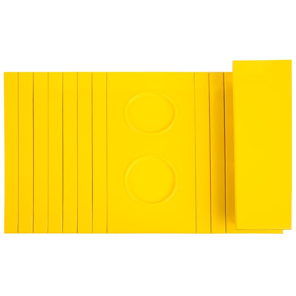 Esteira com Porta Copos/Controle Lacca Amarelo