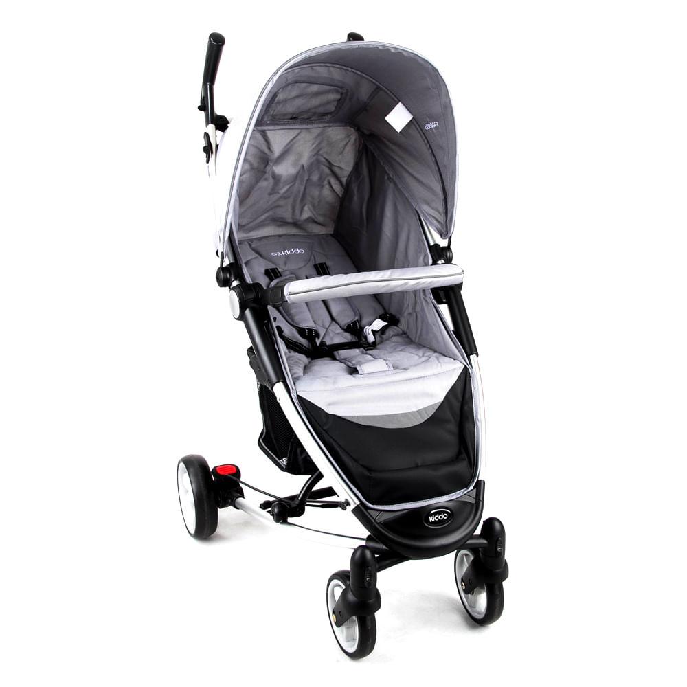 Carrinho de Bebê Helios Alumínio Lenox Multi Posições Cinza