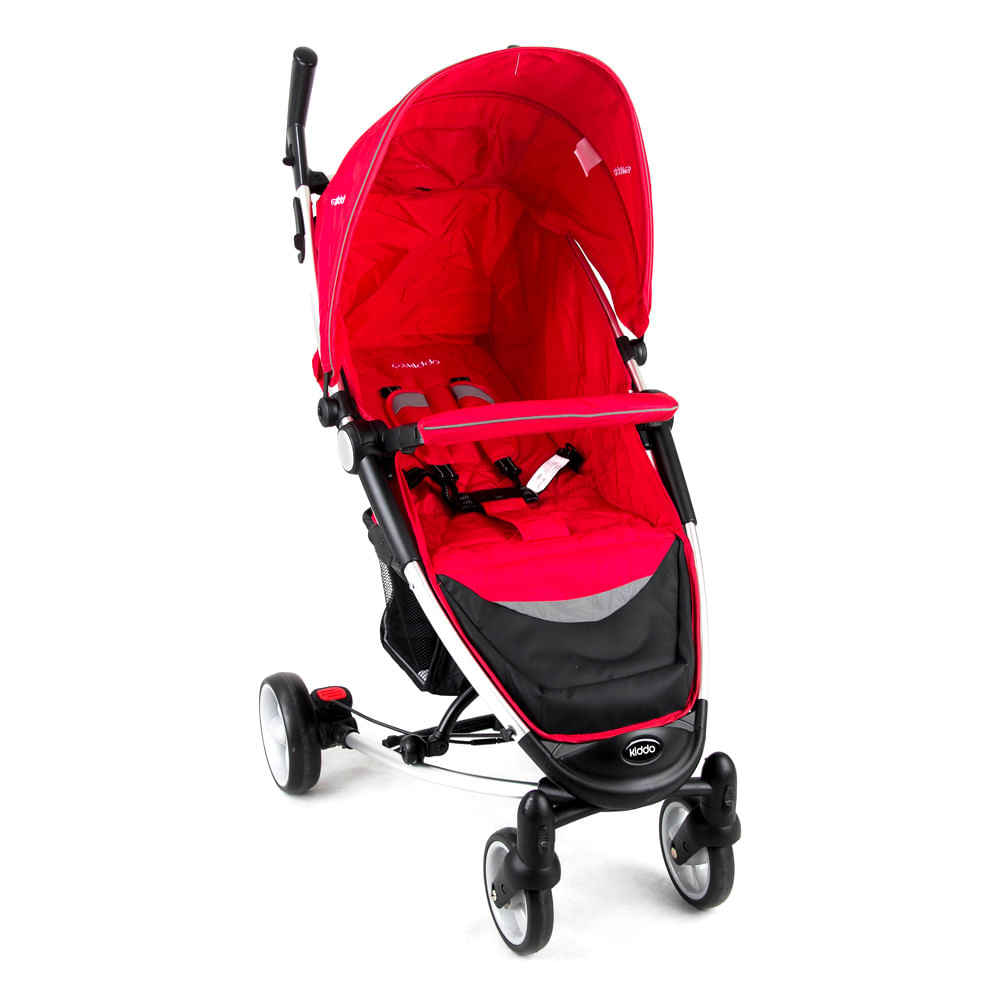 Carrinho de Bebê Helios Alumínio Lenox Multi Posições Vermelho
