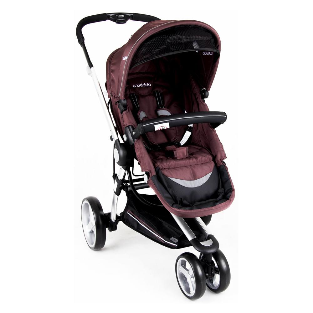 Carrinho de Bebê Triciclo Compass II Revers. Alum. 3 Pos. Chocolate Lenox Kiddo