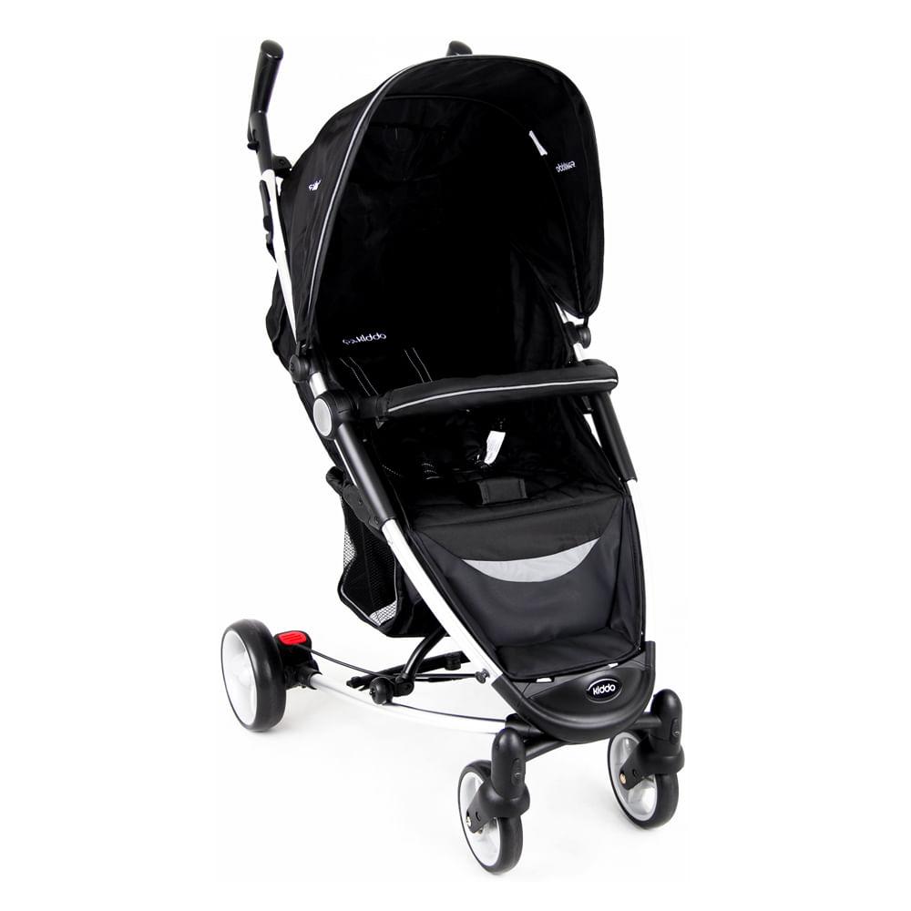 Carrinho de Bebê Helios Alumínio Lenox Multi Posições Preto