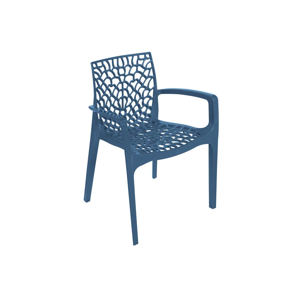 Cadeira Gruvyer Com Braço Azul