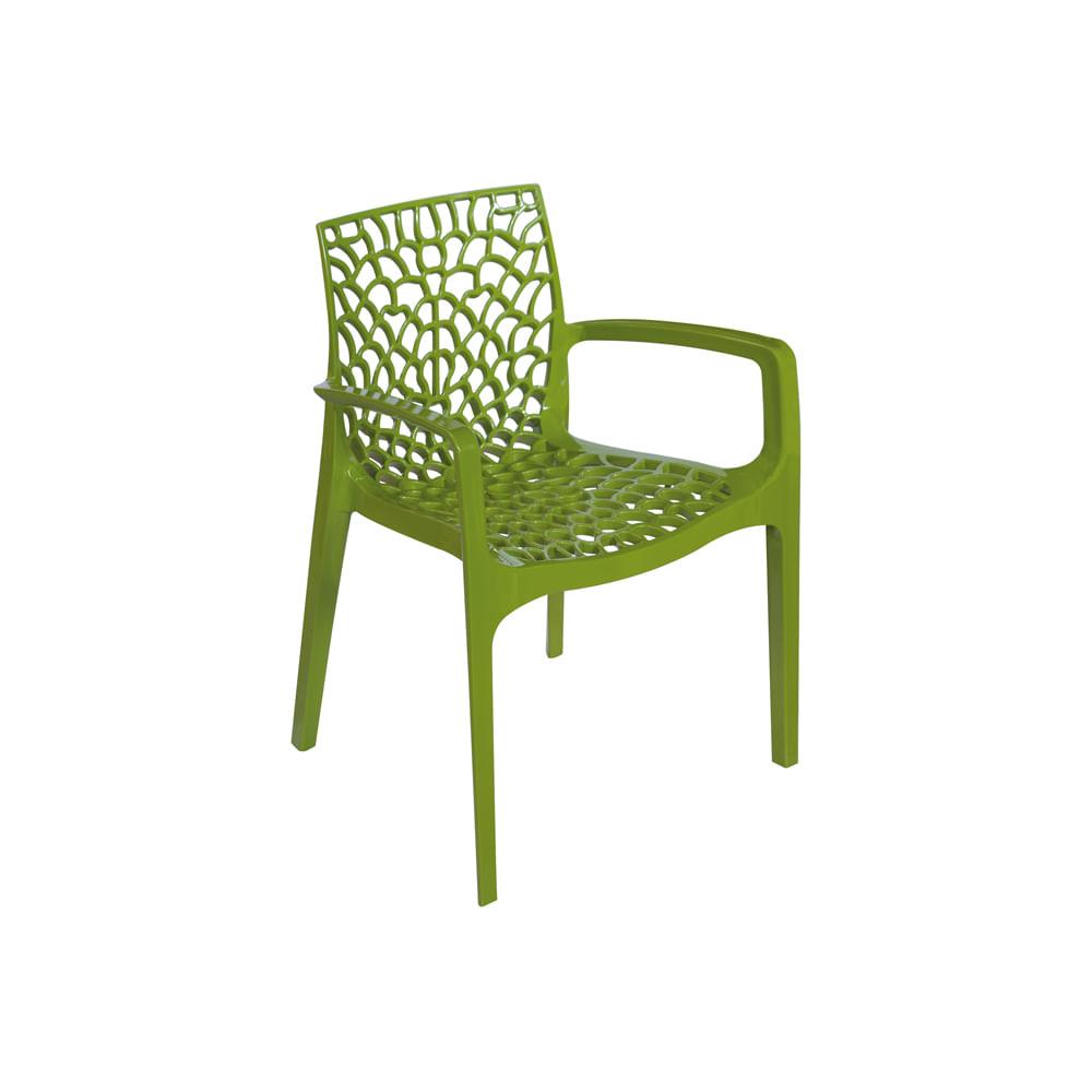 Cadeira Gruvyer Com Braço Verde