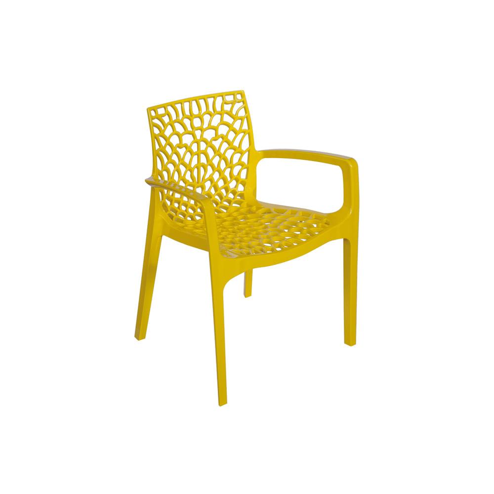 Cadeira Gruvyer Com Braço Amarela