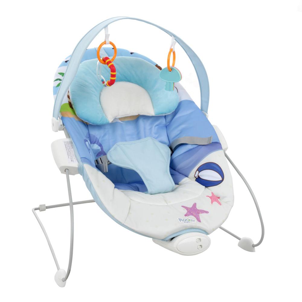 Cadeira de Descanso Rocker Azul (até 6 meses e peso até 9Kg)