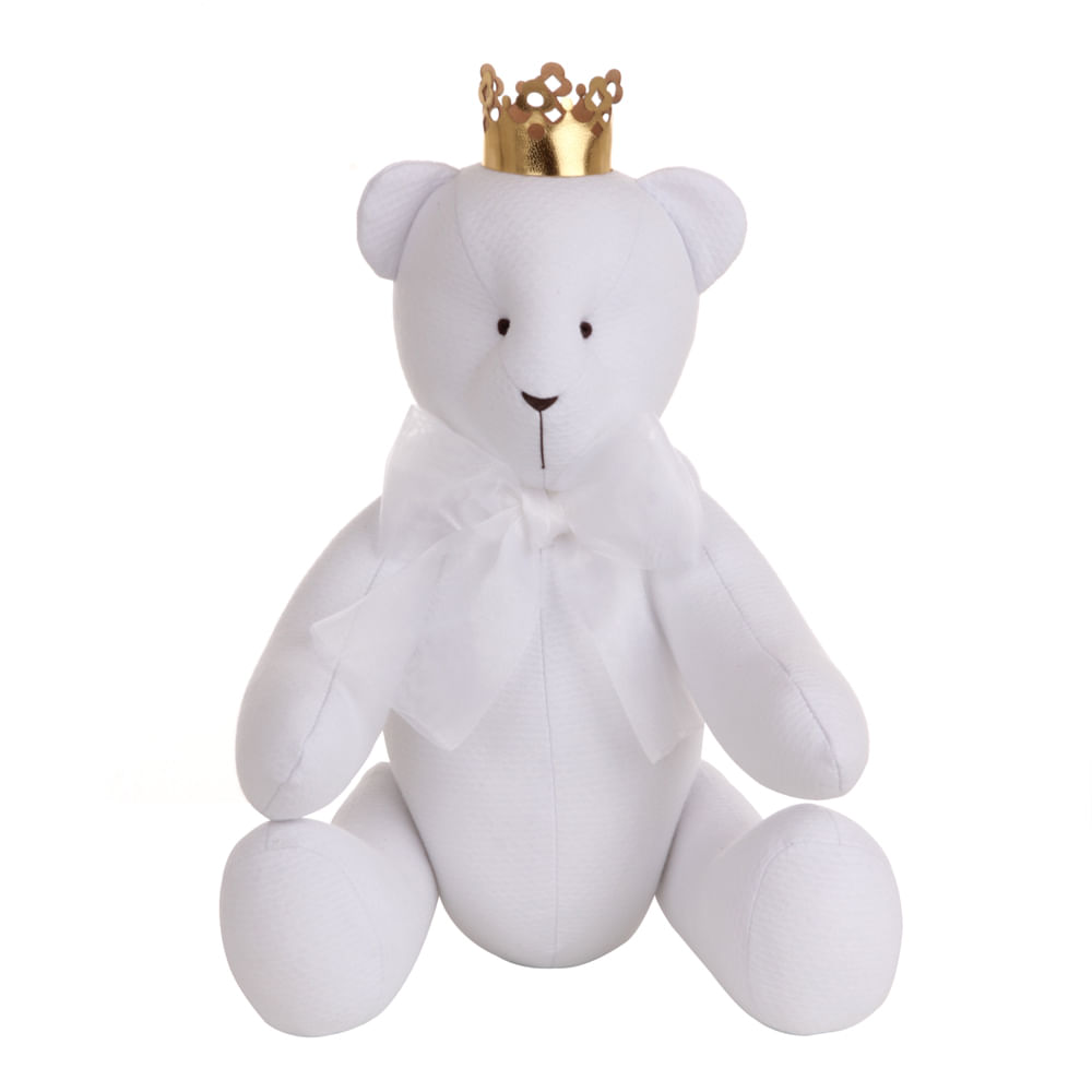 Urso Gordinho M com Coroa Piquet Branco