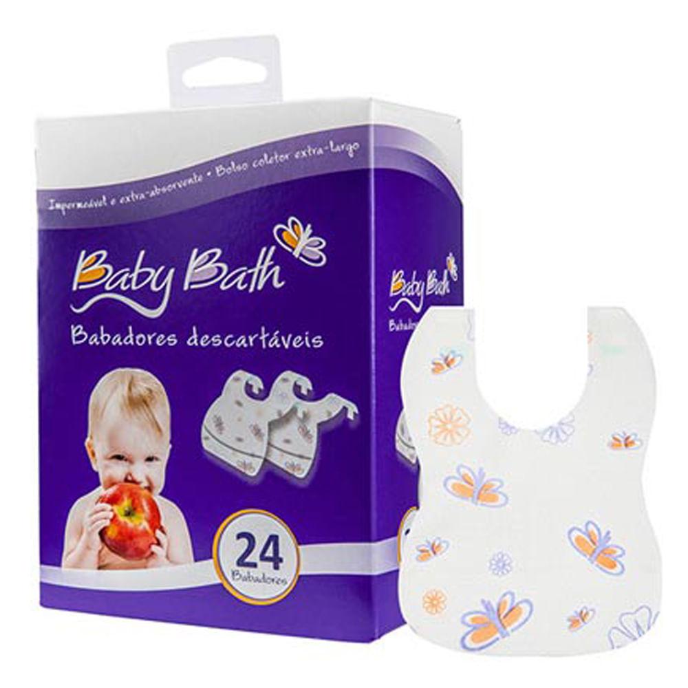 Babadores Descartáveis com 24 unidades Baby Bath