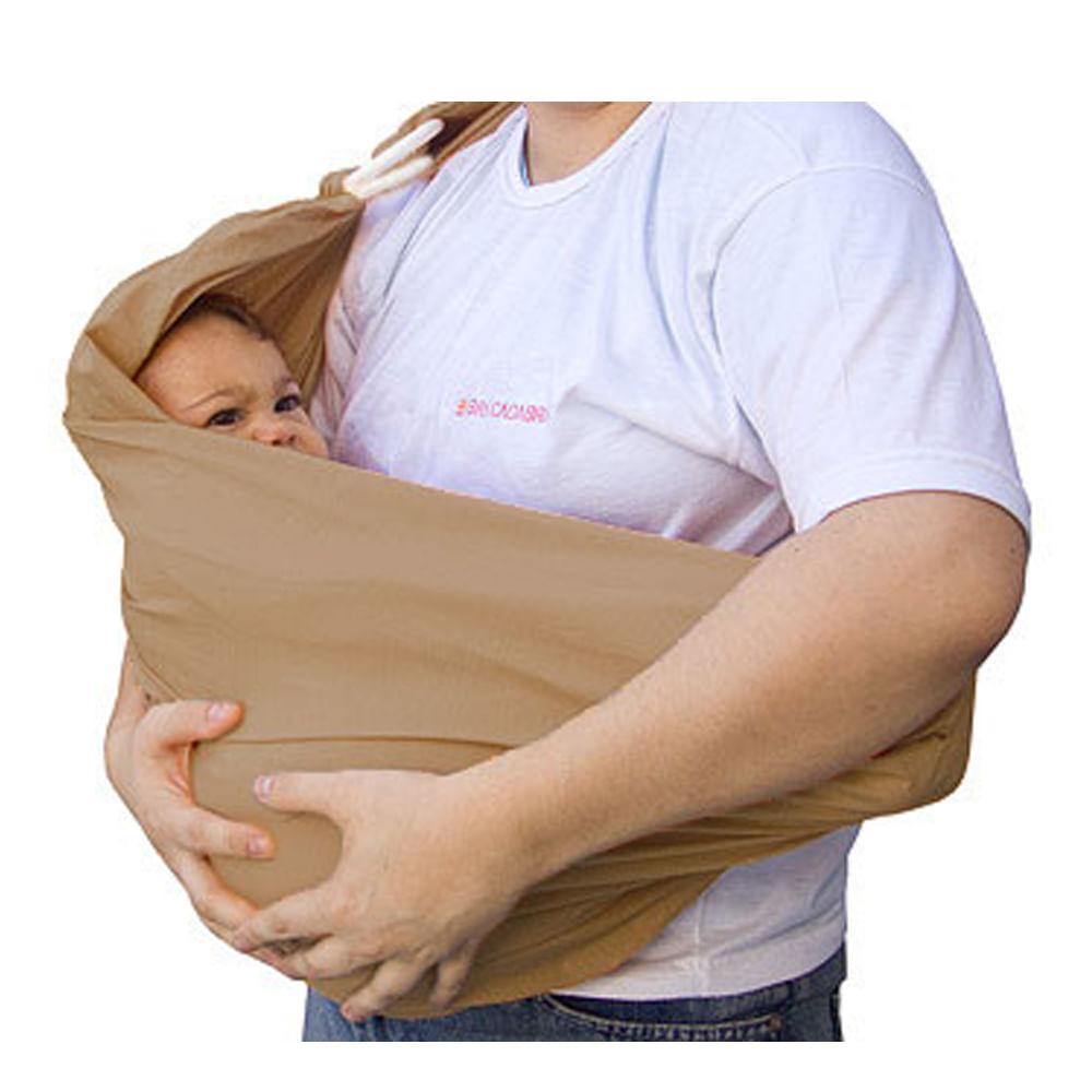 Carrega Bebê Sling Caqui com Argola