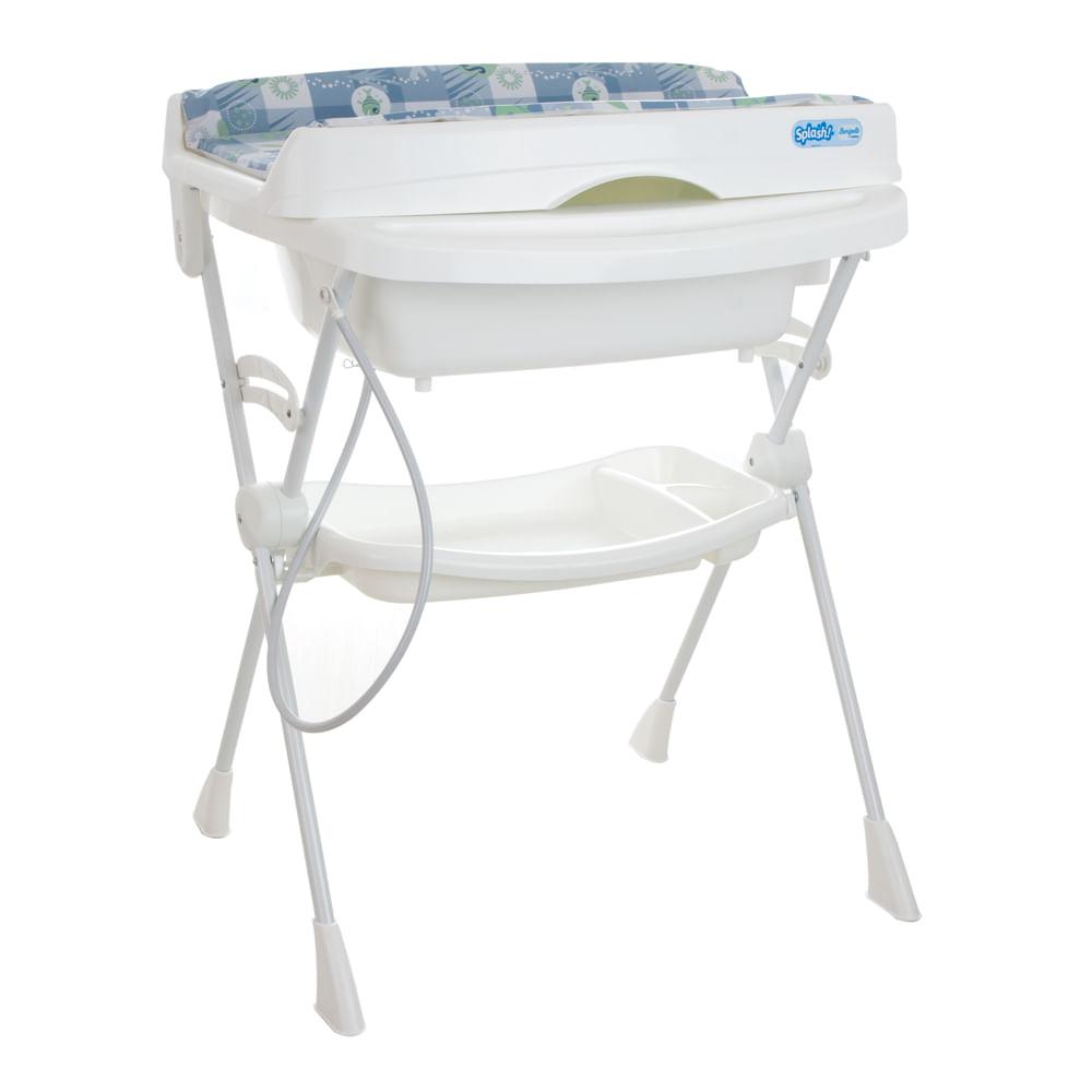Banheira Splash Peixinhos Azul com Assento Burigotto