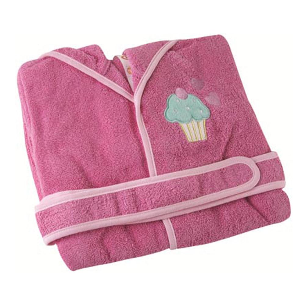 Roupão Felpudo Quimono Mini Colorê PP Pink