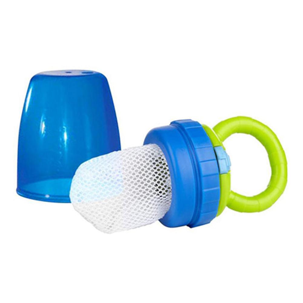 Alimentador Seguro Verde e Azul Sassy