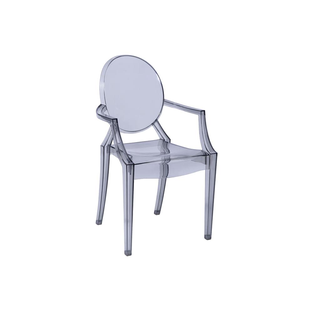 Cadeira Invisible com Braço Transparente