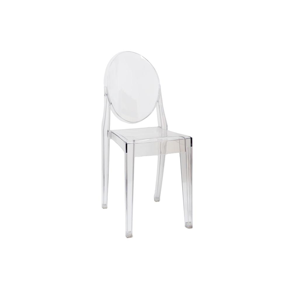 Cadeira Invisible sem Braço Branco