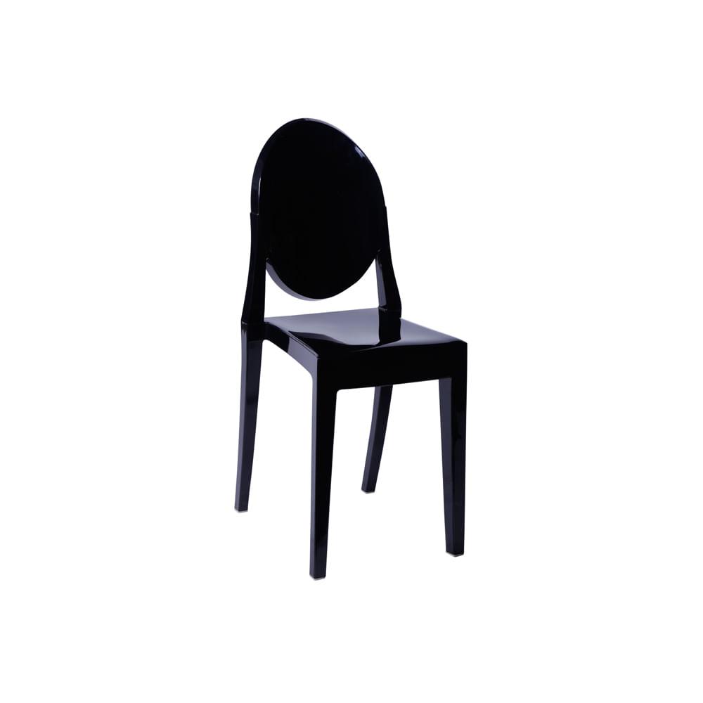 Cadeira Invisible Sem Braço Preta - Or 1107