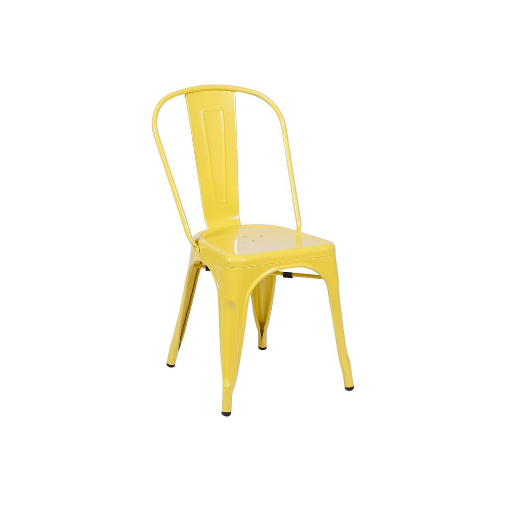 Cadeira Tolix Amarela Nova Versão