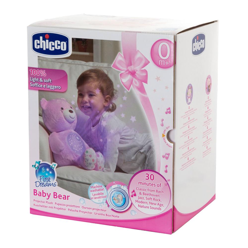 Projetor Bebê Urso Rosa