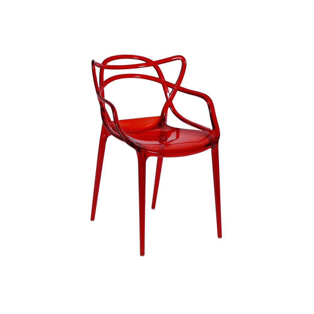 Cadeira Allegra Policarbonato Vermelha