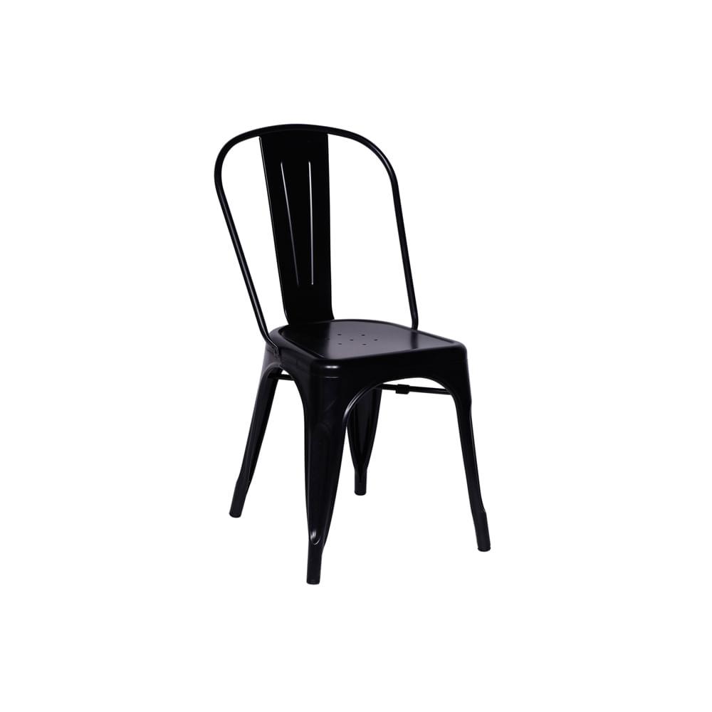 Cadeira Tolix Preta Nova Versão