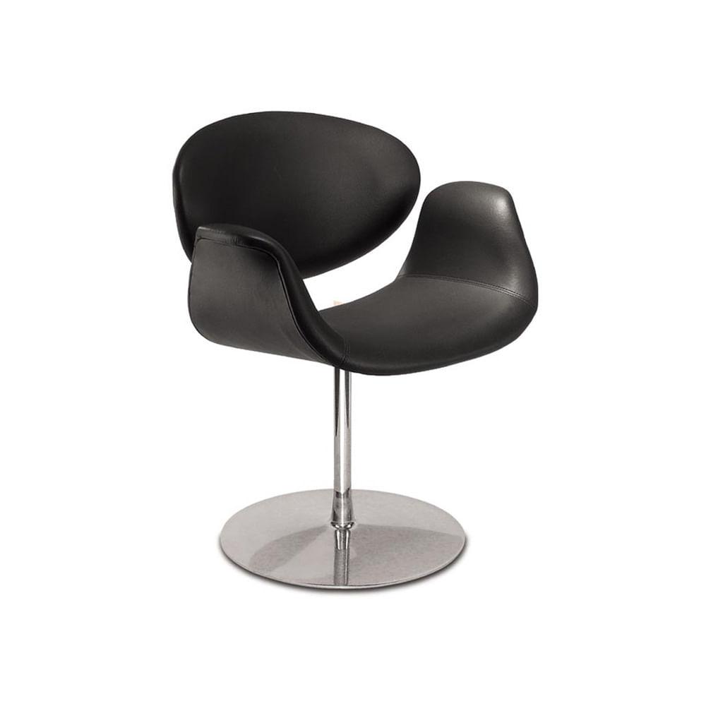 Cadeira Tulipa Estofada Courino com Base Disco Alumínio