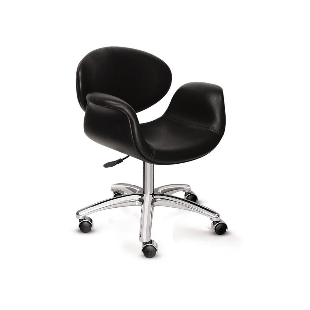 Cadeira de Escritório Tulipa Estofada com Base Queen Alumínio