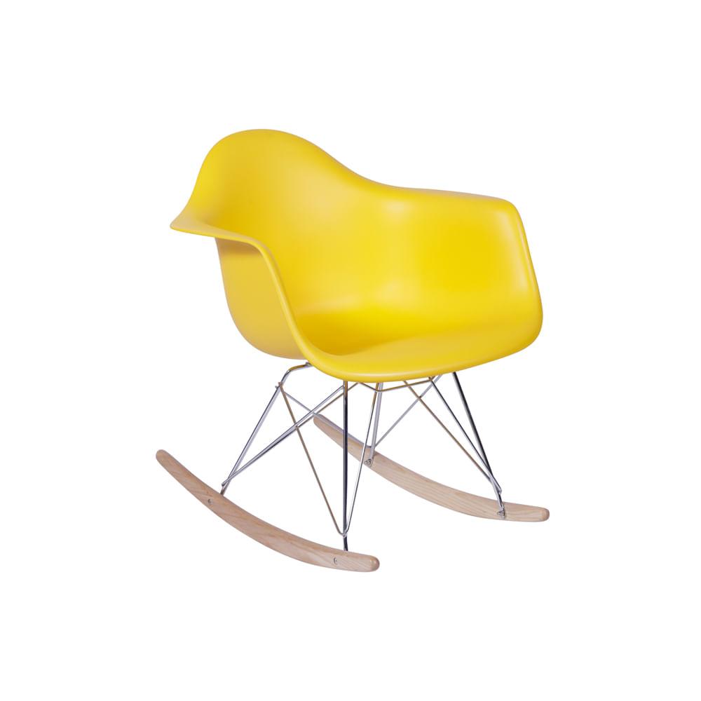 Cadeira Eiffel Com Braço Balanço Amarela - Or 1122
