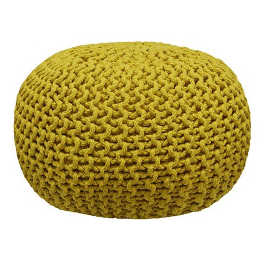 Puff de Crochet Mostarda