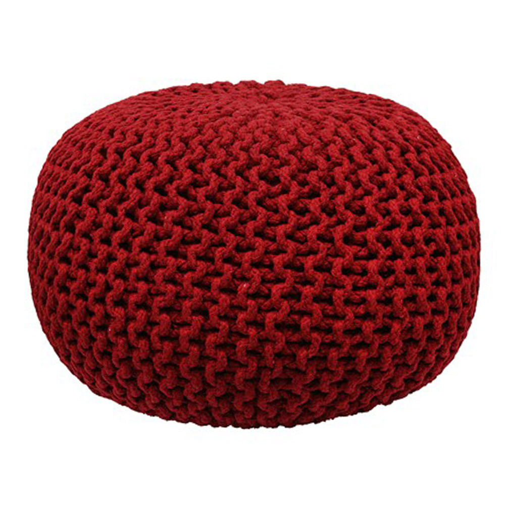 Puff de Crochet Vermelho