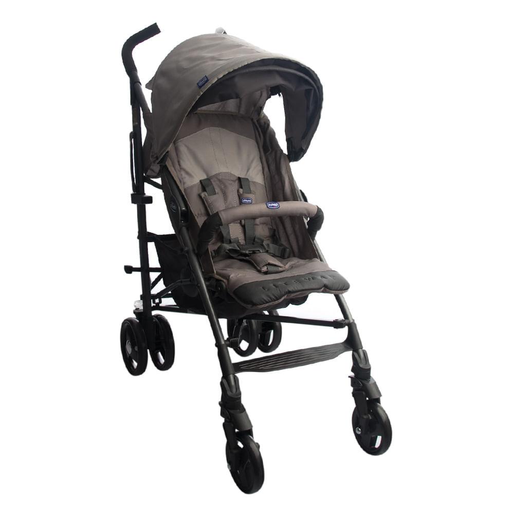Carrinho de Bebê Lite Way Basic 2 Bege Com 5 Posições e Barra de Proteção