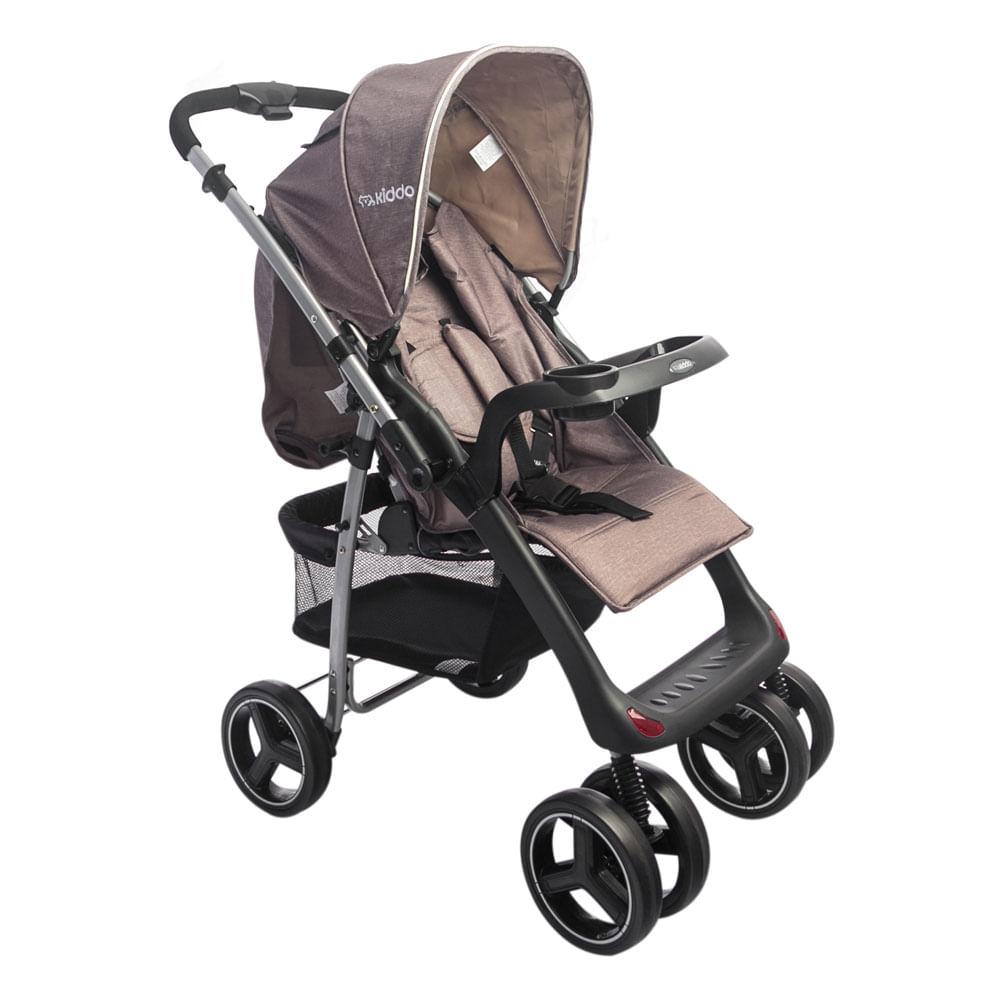Carrinho de Bebê Zap Reversível 3 Posições Capuccino Lenox Kiddo