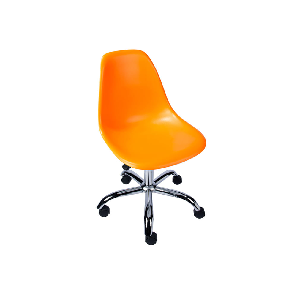 Cadeira de Escritório Eames Eiffel Giratória Laranja