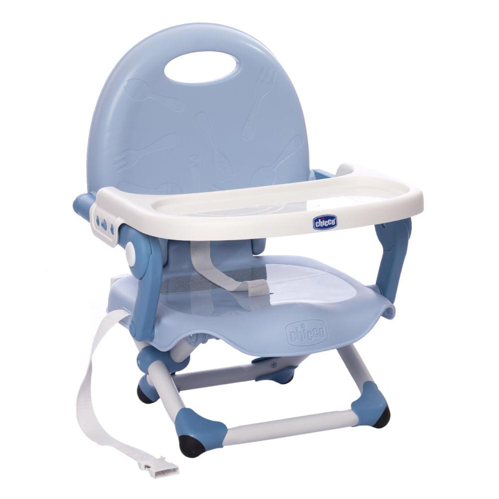Assento Elevatório para Refeição Chicco Pocket Snack Blue Sky 0 a 15Kg