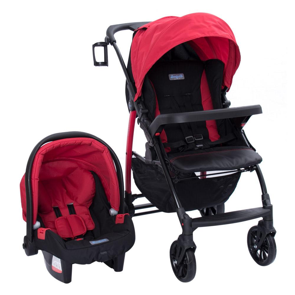 Travel System Módulo Pramette 4 Posições Red/Vermelho Burigotto 0 a 15kg