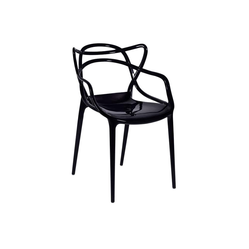 Cadeira Allegra Policarbonato Preta - Or 1116