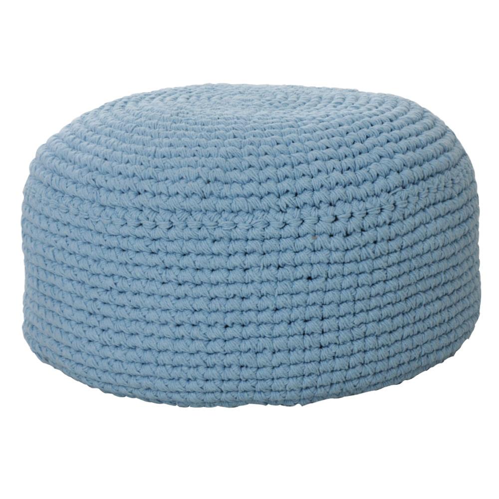 Puff de Chão crochê Azul