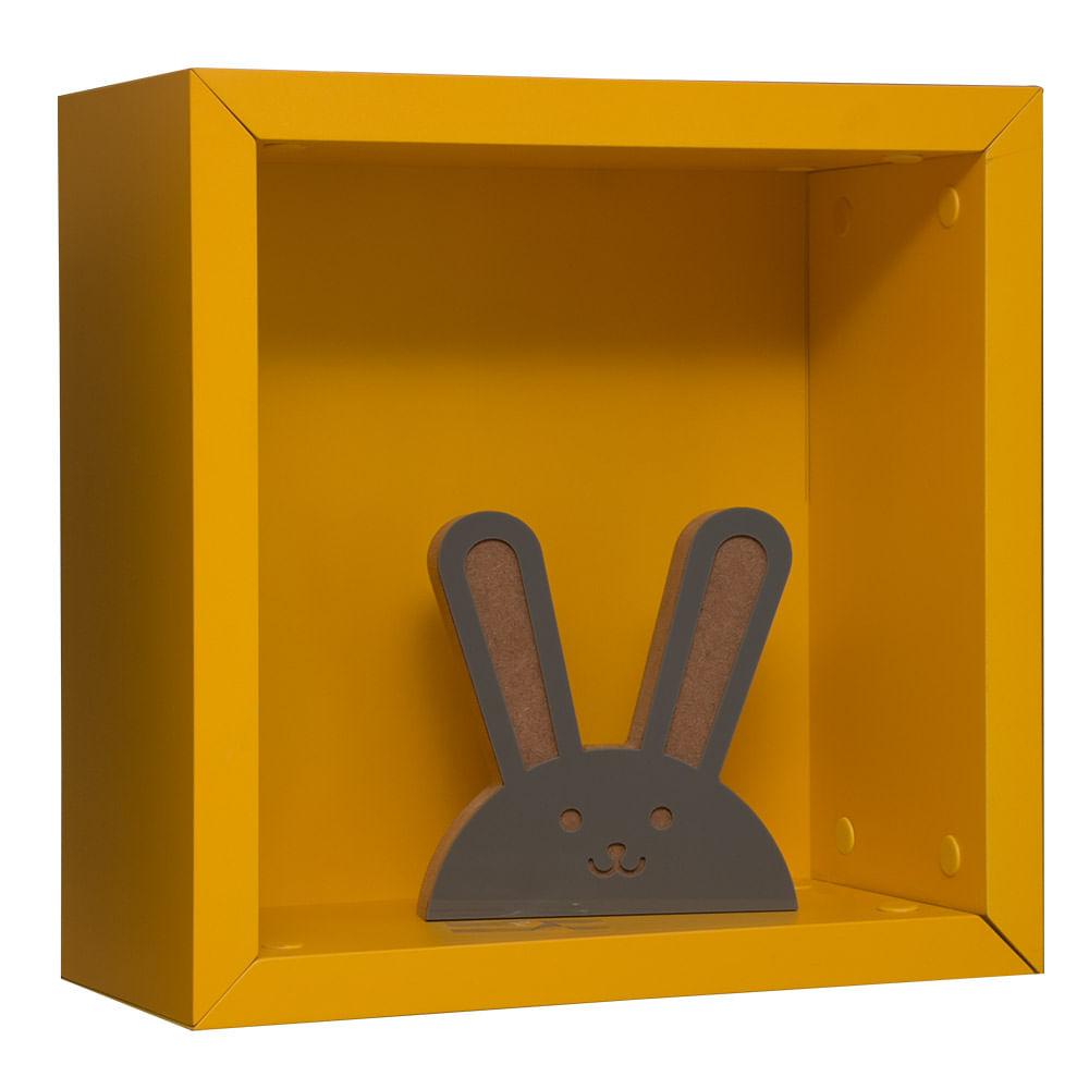 Nicho Pequeno Amarelo -(35cm x 35cm x 17cm)